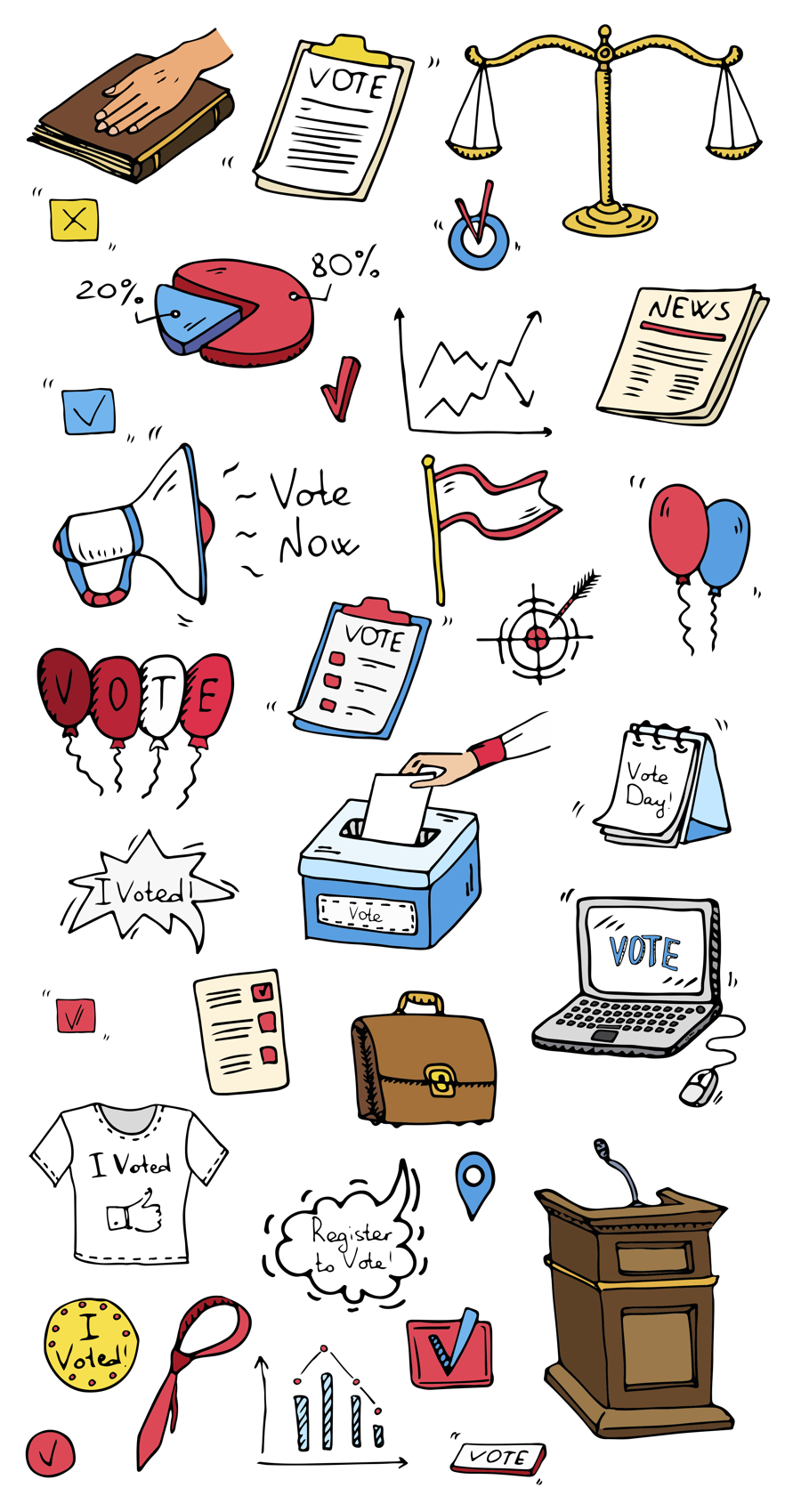 Voting illustration for About Us page
